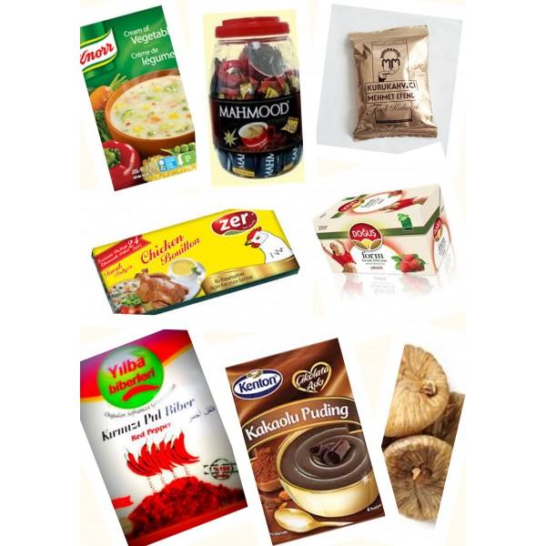 بسته مواد غذایی ترکیه مخصوص خانواده