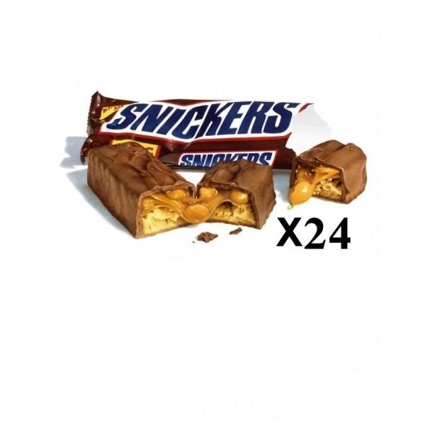 شکلات اسنیکرز snickers پک 24 تایی