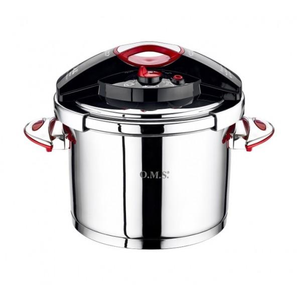 زودپز استیل 5 لیتری OMS مدل کلیپسو دسته باکالیت ۵۰۳۵ – OMS STEEL PRESSURE COOKER