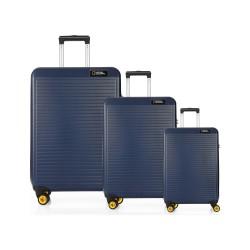 مجموعه سه عددی چمدان نشنال جئوگرافیک مدل N 2002  Abs سرمه ای