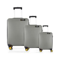 مجموعه سه عددی چمدان نشنال جئوگرافیک مدل N 2002  Abs خاکی