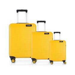 مجموعه سه عددی چمدان نشنال جئوگرافیک مدل N 2002  Abs زرد
