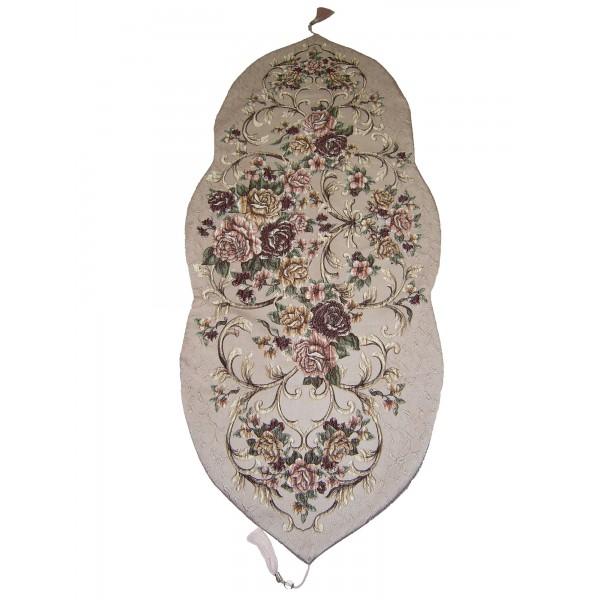 رومیزی رانر سنتی  طرح گل برجسته  ترکیه